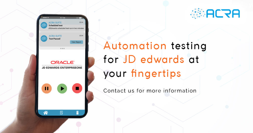 Automation testing for JD Edwards